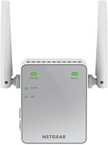 Netgear EX2700-100PES Ripetitore Wireless Universale, N300 Mbps, Fast Ethernet, 2 Antenne Esterne, Argento
