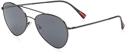 Prada Sport Herren 0PS50SS 7AX5S0 57 Sonnenbrille, Schwarz (Black/Grey)