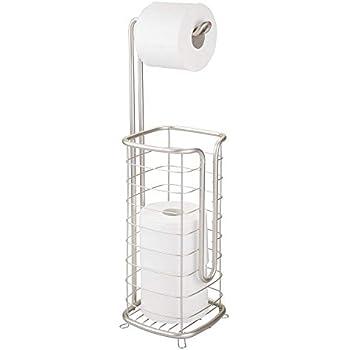 ecooe Bambus Stand Toilettenpapierhalter Ersatzrollenhalter Ideal f/ür 5 Toilettenpapierrollen Stehender WC-Rollenhalter St/änder und Organizer 2 in 1 Platzsparend Ohne Bohren 72 cm /…