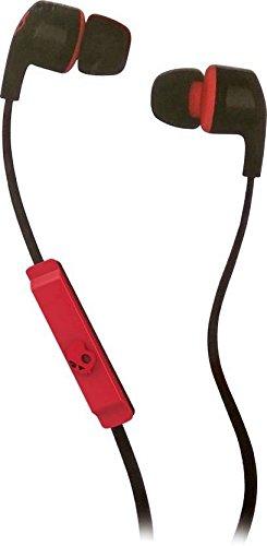 Skullcandy Smokin Bud 2 In-Ear Kopfhörer mit Mikrofon - Schwarz/Rot (Ear-bud-tragetasche)