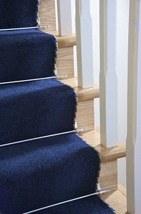 Stair Rods ~ Chrome Silver - Easy Rods to fit - Good Quality Hollow Stair Carpet Runner Bars Affordable Cheap and New