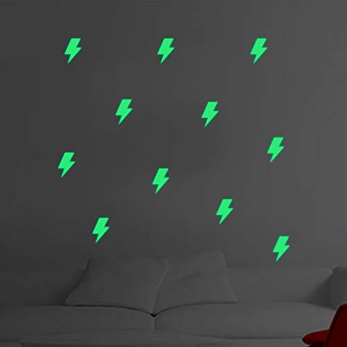Kreative Persönlichkeit 3D-Blitz Thunderbolt Wandaufkleber Nachtlicht-Wandaufkleber Kreativ leuchtend DIY-Heim-Schlafzimmer Kinderdekoration -