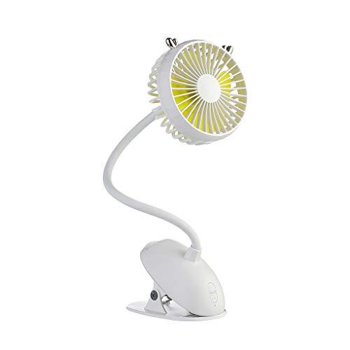 Hanxin Tragbare flexiblen Hals Miniclip-Fan Fan, Baby-Baby-Krippe Fan Wiederaufladbare USB-Desktop-Lüfter Einstellbare Geschwindigkeit -
