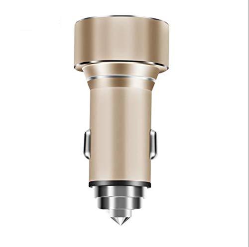 LSYR Doppel-USB-Auto-Ladegerät Sicherheitshammer Digitalanzeige ladegerat Quick Adapt-led