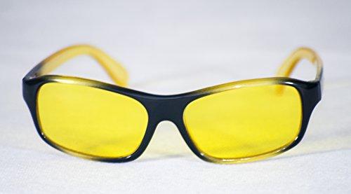 Happyeye Kinderbrille mit getönten Gläsern für Legasthenie, Alter 5-10Jahre gelb