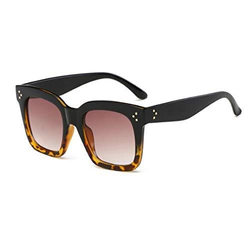 TYJYTM Weinlese-Sonnenbrille-Frauen-quadratische Sonnenbrille-Frauen-Gläser Big Frame Acetate Gradient Eyeglasses
