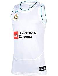 Adidas Línea Real Madrid Camiseta sin Mangas, Unisex Niños, Blanco, ...