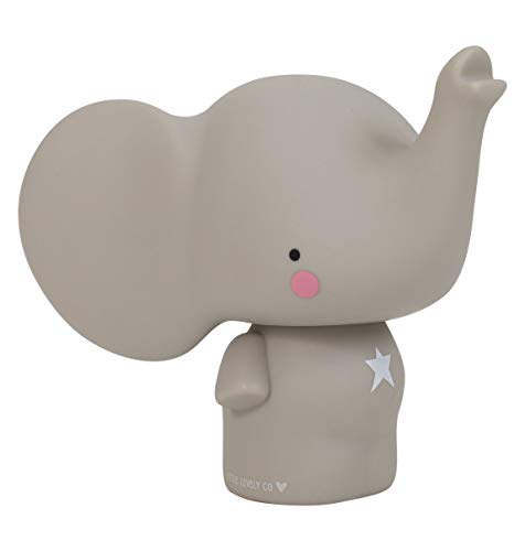 A Little Lovely Company MBELGR05 - Mini hucha en forma de elefante, color gris