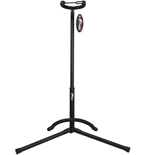 Tiger Universal Guitar Stand in Black - Folding Guitar Stand - Acoustic Guitar Stand / Classical Guitar Stand / Electric Guitar Stand / Bass Guitar Stand