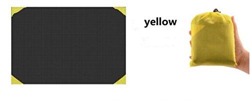 Veligoo Multi Fonction Couverture Extérieure Poche Conception Étanche Camping Couverture Tapis Couverture De Plage Pique-Nique Couverture 4.2 * 5.1 Pieds (jaune)