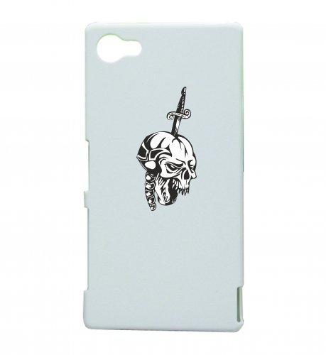 Smartphone Case testa di morto con la spada nel cranio scheletro rocker Frecce Club Gothic Biker Skull Emo Old School per Apple Iphone 4/4S, 5/5S, 5C, 6/6S, 7& Samsung Galaxy S4, S5,