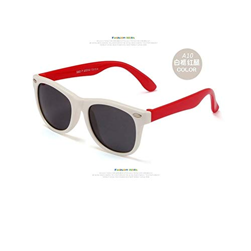 Sportbrillen, Angeln Golfbrille,NEW Boy Girls Sunglasses Kids Sun Glasses Children Glasses Polarisiert Lenses Girls Boys Tr90 Silicone Child Mirror Baby Eyewear c15