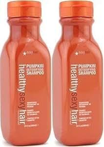 Healthy Sexy Hair Pumpkin Detoxifying Shampoo, 10 Fl. Oz. / 300 mL. (2 Ct.) by Sexy Hair