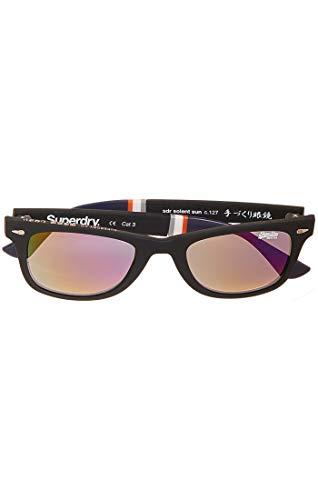 Superdry Herren SDR ICSOLENT SUN Sonnenbrille, Schwarz (Black Rubberised), 55.0