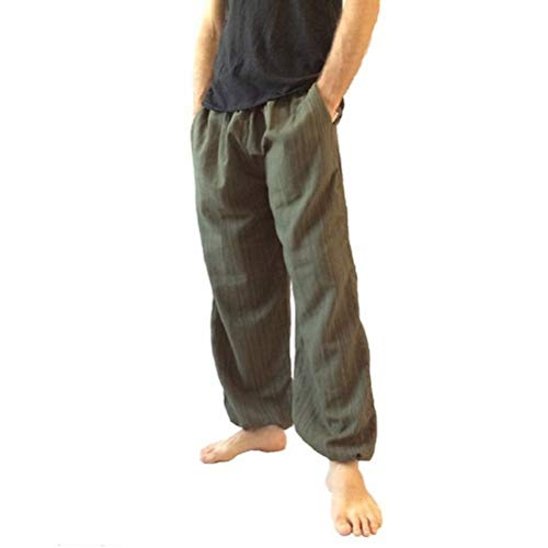 Männer Hosen Elastische Taille Lose Breite Bein Baumwolle Tägliche Arbeit, Zuhause, Freizeit Und Fitness Jogger Lange Hosen -