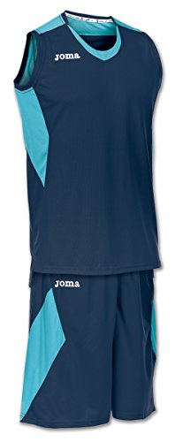 Joma Set Space Basketball Trikot-Set Kinder dunkelblau-türkis dunkelblau/türkis, XS (168)