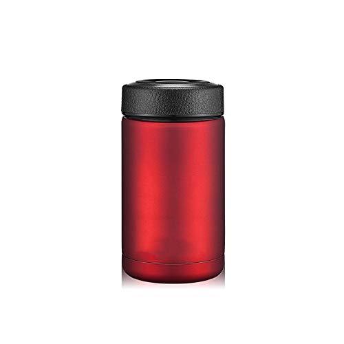 Thermoskanne Tasse Auto Handschale Männer und Frauen mit Filter Edelstahl Büro Tasse Tragbare Tasse Teetasse, rot -