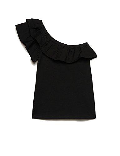 Motivi : T-Shirt Monospalla Nero M (Italian Size)
