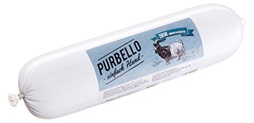 PURBELLO Hundewurst Ziege - 8 x 800 g - Monoprotein Hundefutter mit hohem Fleischanteil - Nassfutter für Hunde - Schnittfest & Getreidefrei (6,4 kg)