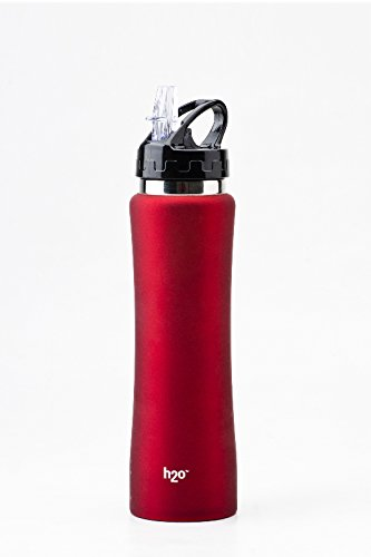 H2O SB 125 Stainless-Steel Water Bottle, 750ml , Red