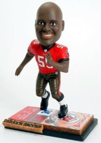 Tampa Bay Buccaneers Derrick Brooks Ticket Base Forever Collectibles Bobble