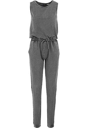 Urban Classics - Leggings Denim Jersey Sleeveless Jumpsuit, Calzamaglia sportiva Donna, Grigio (Darkgrey), Large (Taglia Produttore: Large)