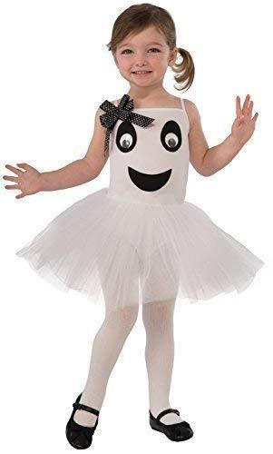 Fancy Me Kleinkind Mädchen Süß Ghost Ballerina Tutu Halloween Horror Karneval Kostüm Kleid Outfit 2-3 Jahre (Ghost Tutu Kleid)