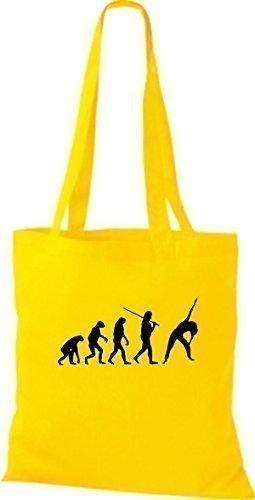 ShirtInStyle Stoffbeutel Jute Evolution Fitness Sport diverse Farbe gelb
