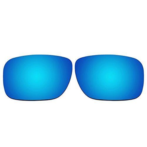 Acompatible Ersatzgläser für Oakley Holbrook Sonnenbrille OO9102, Ice Blue Mirror - Polarized, S
