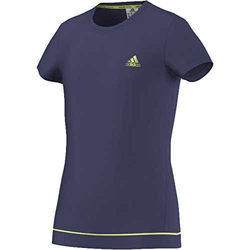 adidas G Galaxy Tee Damen T-Shirt, Marineblau/Limette, Damen, G Galaxy Tee, Marineblau/Lima, 116 -
