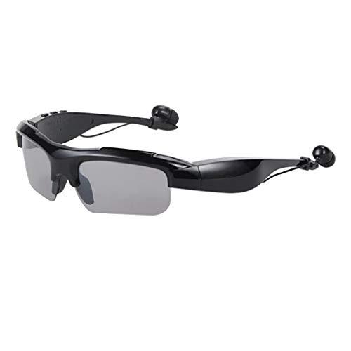 Homyl Bluetooth 4.0 Sonnenbrille UV Schutz Fahrradbrille Motorradbrille Bikebrille Freisprech Stereo Bluetooth Kopfhörer Headset - Schwarz