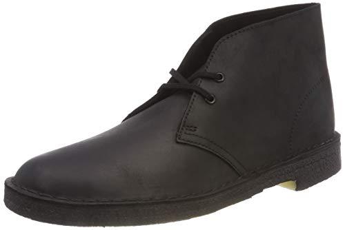 Clarks Originals Boot, Stivali Desert Boots Uomo, Nero (Black Smooth Leather-), 42 EU