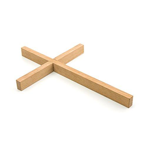 corpus delicti :: Puristisches Schlichtes Holzkreuz aus Eiche für die Wand oder die Hand