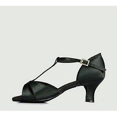 Scarpe da ballo-Personalizzabile-Da donna-Balli latino-americani-A stiletto-Raso-Nero Giallo Black