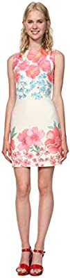Desigual Dress leeveless YAQUE Woman White Vestido, (Blanco 1000), XX para ujer