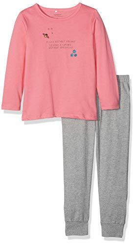 NAME IT Baby-Mädchen NMFNIGHTSET Grey Mel 1 NOOS Zweiteiliger Schlafanzug, Mehrfarbig Melange, 98