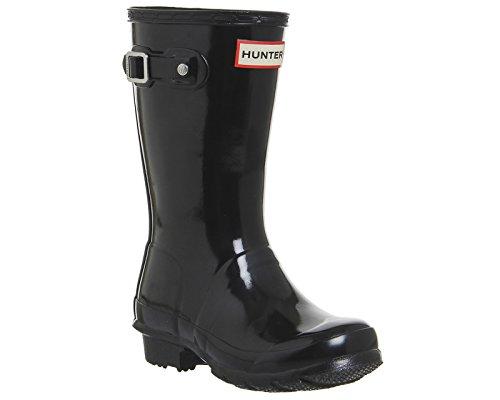 Hunter Young Hunter Original Wellies, Chaussures sport mixte enfant Black Gloss Jnr