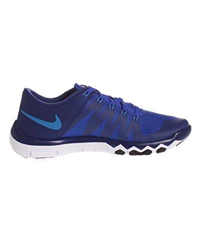 Nike Free Trainer 5.0 V6 Herren Low-Top Azul / Blanco (Dp Ryl Blue / Pht Bl-Rcr Bl-Blk)