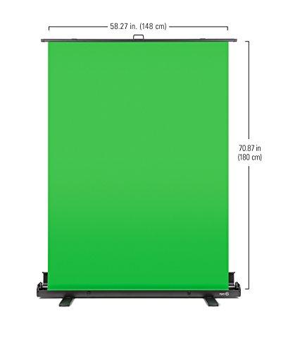 Elgato Green Screen - Ausfahrbares Chroma-Key-Panel zur Hintergrundentfernung mit automatisch arretierendem Rahmen, knitterfreies Chroma-Green-Material in Aluminium-Koffer, sekundenschneller Auf- & Abbau