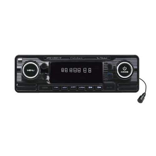 Caliber RMD120BT/B Autoradio Aspect Vintage avec Carte SD Kit Mains Libres Bluetooth (Fente pour Carte SS, connecteur USB) Noir