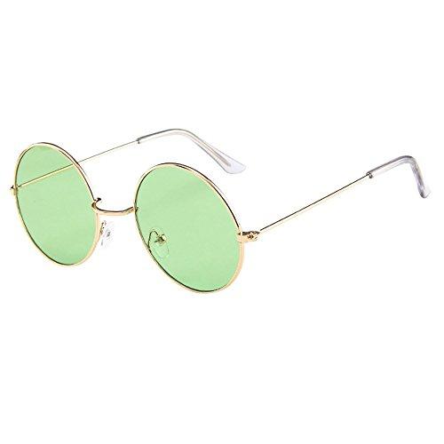 YEARNLY Erwachsene Retro Runde Sonnenbrillen Stil Vintage Look Qualität UV400 Brillen Männer Frauen Klassische Unisex-Brillen