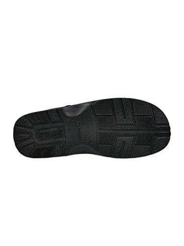 Herren Bequeme Sandalen Schuhe Mit Der Orthopadischen Einlage Aus Echtem Buffelleder Hausschuhe Modell 801/2 Schwarz