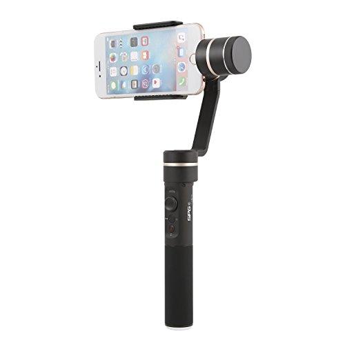 Feiyutech SPG C mit Dshot Halsband Gimbal für iPhone 5 iPhone 6 plus 7 plus 8 und Android Samsung Galaxy S7 S6 S5 Handys, App Control, Face-Tracking, Unterstützung Vertikale Aufnahme Panorama-Modus