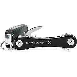KeySmart Resistente Premium, Over-Built Compacto Clave Organizador, Unisex, Rugged, Negro