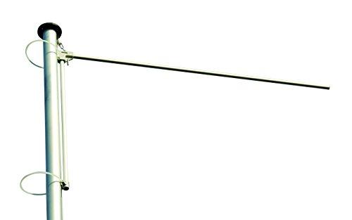 Nachrüstbarer Ausleger für Fahnenmasten, hissbar, für Fahnenbreiten bis 160cm, Aluminium, inkl. Zubehör, einfache Montage