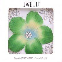 Blume Haar Grüne. und Haarschmuck. Blume Grüne Haar mit 7Strass Swarovski im Herzen von la fleur. Befestigung Hat kalt und wiederverwendbar.