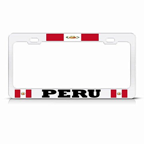 Moon Placa de matrícula con la Bandera peruana de la Luna, Color...