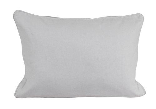Homescapes dekorative Kissenhülle Plain Colour, grau, 30 x 50 cm, Kissenbezug mit Reißverschluss aus 100% reiner Baumwolle -