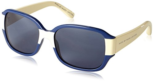 Marc Jacobs MMJ 100/N/S Wayfarer Sonnenbrille, Blue Cream Frame / Gradient Grey