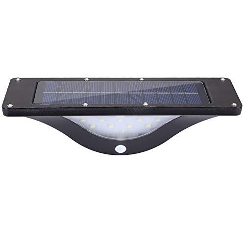 HECHEN Solar Light-Garden View-Wandleuchte-Outdoor Super Bright LED wasserdichter menschlicher Körper Induktion Street Light-Glow Light + Low Light Mode,Black